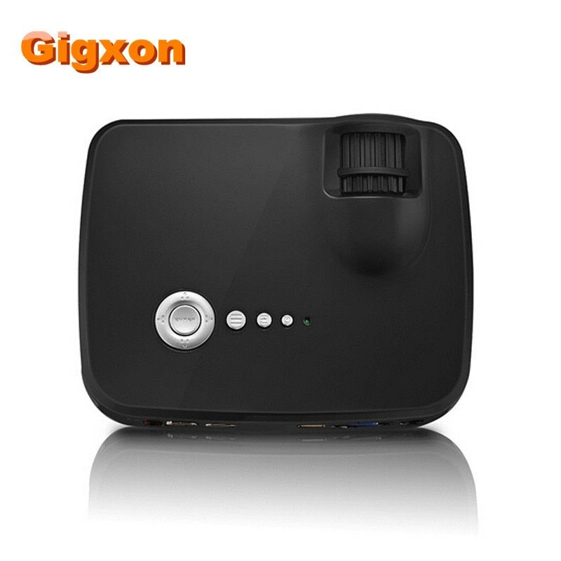 Gigxon - G700 Portable mini led projector 1200 lumens , support 1080P for home theater by double HDMI