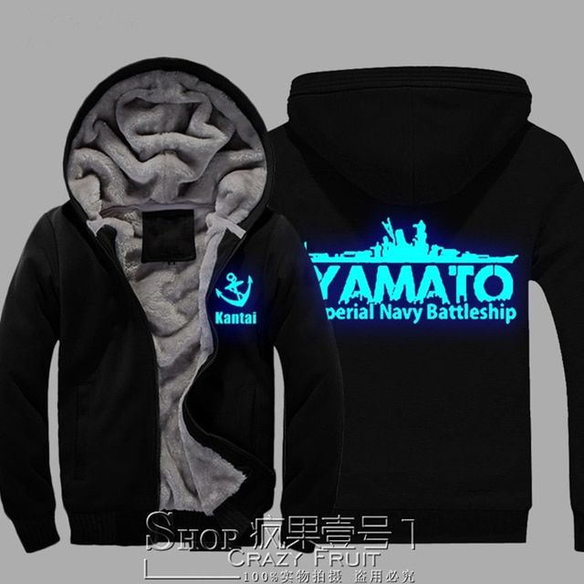 Game Surrounding Hoodies Coat World Of Warships Night Lights Hooded Cardigan Jacket Thicken Cotton Clothes Men Sweatshirt