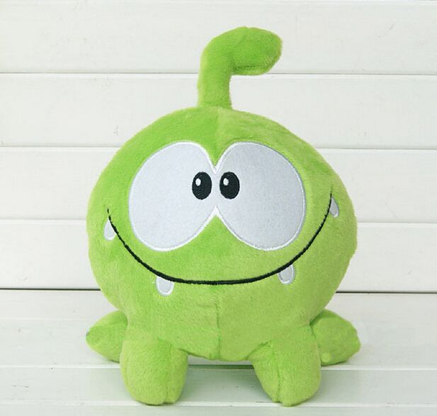 "2017 So Kawaii 7""20cm Om Nom Frog Plush Toys Cut the Rope Soft Rubber Cut the Rope Figure Classic Toys Game Lovely Gift for Kids"