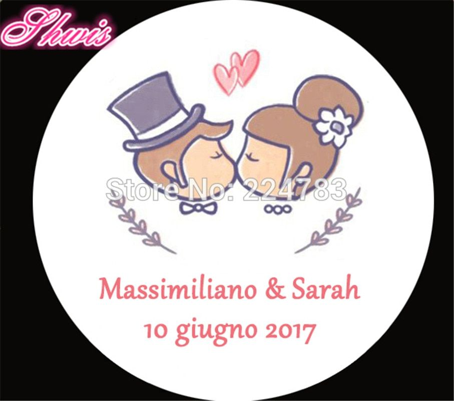 100pcs Personalized Wedding Stickers custom Candy Stickers Wedding engagement anniversary Party Favors Labels supplies Boda