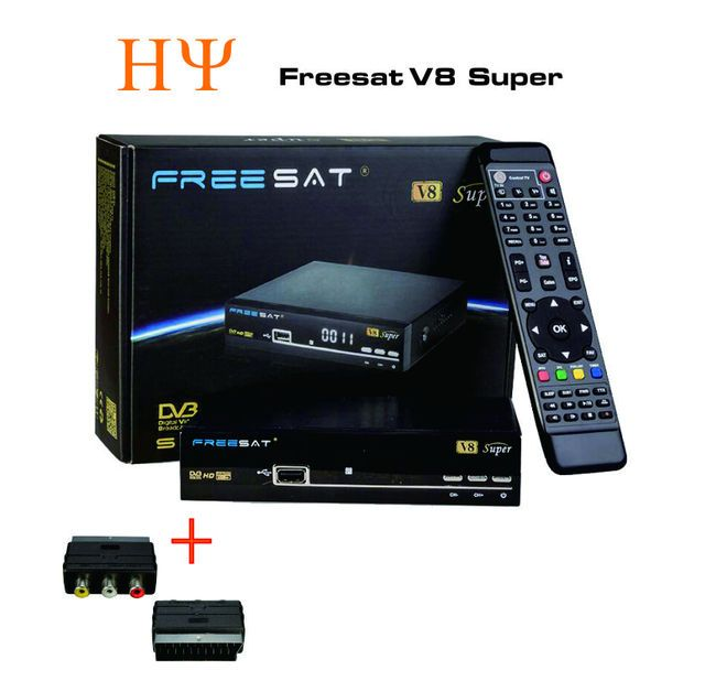 2PCS Original Freesat V8 Super DVB-S2 Satellite Receiver  Support PowerVu Biss Key Cccamd Newcamd Youtube Youporn