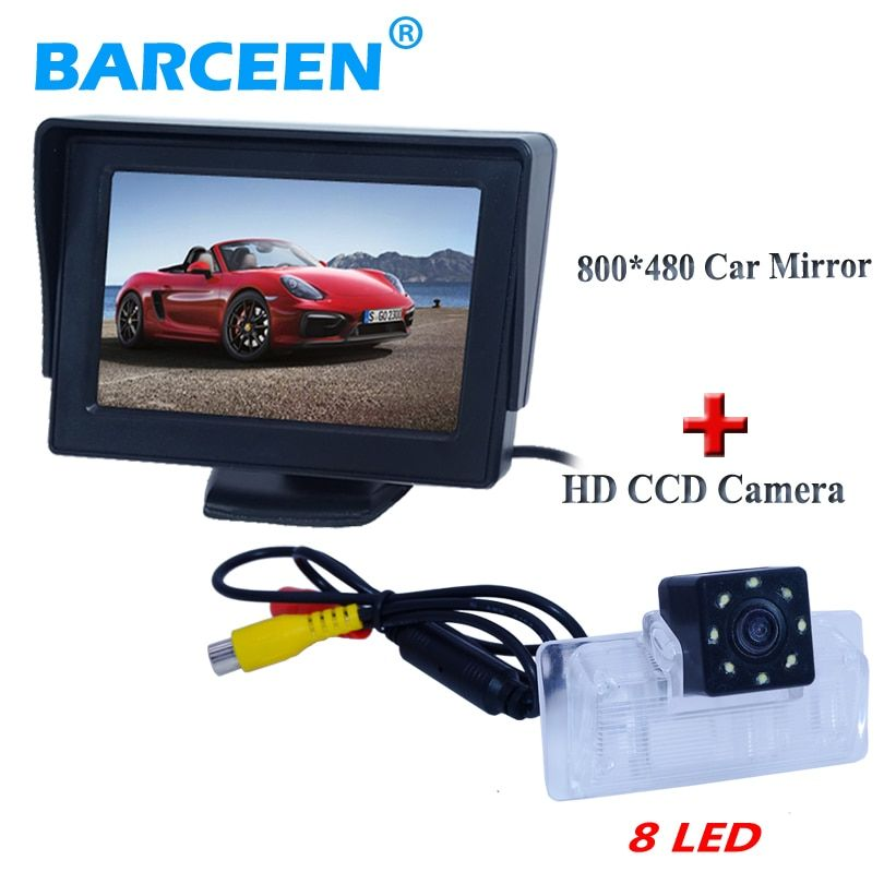Plastic shell car reversing camera with car screen monitor  original use +8 led +170 angle +lcd for Nissan Altima/TEANA /Sylphy