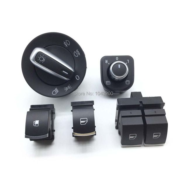 5K3959857 For VW Passat B6 Golf MK5 6 R32 GTI MK5 Rabbit Tiguan Window Mirror Headlight Fuel Control Switch 1KD959833 5ND941431
