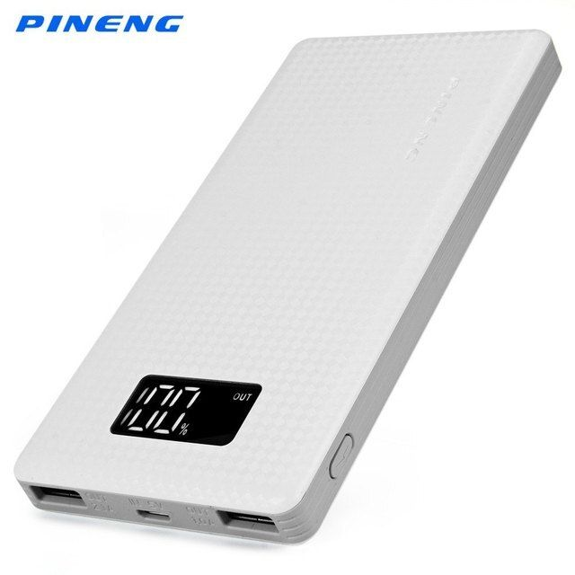 Original PINENG 10000mAh Portable Battery Mobile Power Bank USB Charger Li-Polymer with LED Indicator For Smartphone Cellphone