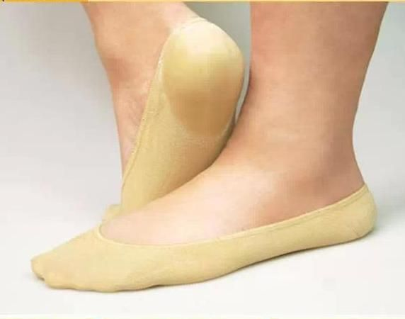 1pair  SPA gel Stockings Foot heel&forefoot anti-cracking boat socks exfoliating dead skin rejuvenation foot care