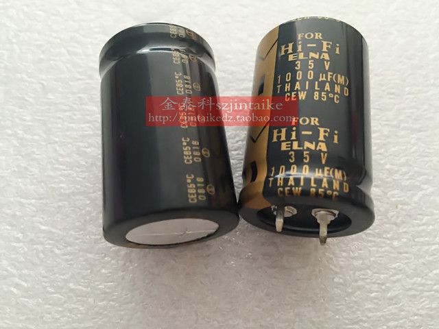 30PCS ELNA tonic capacitor FOR HIFI electrolytic capacitor 35V1000UF 25X40 LAO black gold free shipping