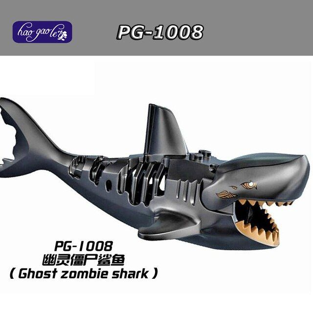 Hao Gao Le 10pcs/lot Pirates of the Caribbean Action Figures PG1008 Ghost Zombie Shark Bricks Building Blocks Toys PG8048