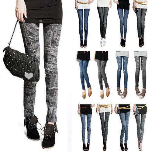 New Fashion Denim Jeans Women girl Sexy Leggings Jeggings Skinny Pants free shipping
