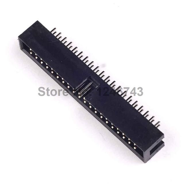 10PCS DC3-40P 40Pins Simple Croissants JTAG Spacing 2.54mm Connector JTAG ISP Plug