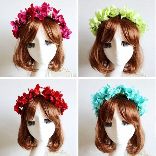 Women Fashion Charming Flower Headband Hair Accessories Wedding Bridal Garland For Lady Girl
