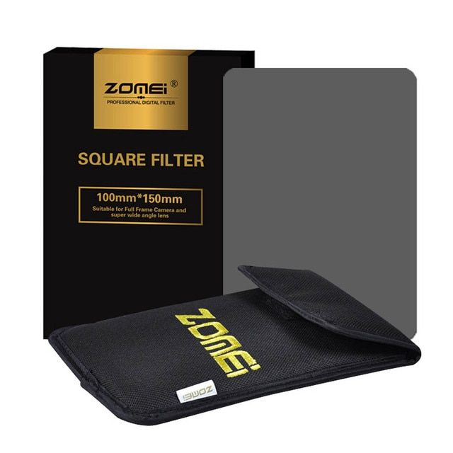 "Zomei 150*100mm ND Square Filter ND2 ND4 ND8 ND16 Neutral Density Grey Filter For Cokin Z-Pro Lee Hitech 4x4"" 4x6"" 100mm Holder"