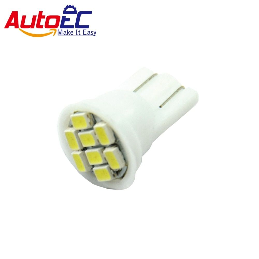AutoEC T10 8 smd led w5w 192 194 168 501 8smd 1206 led car clearance automobile led light white DC 12V 300pcs/lot #LB04