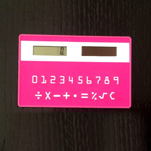Practical Portable Solar Energy Stationery Card Mini Calculator Handheld Ultra-thin Calculators