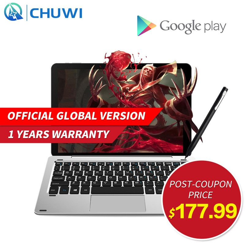 "10.1"" Chuwi Hi10 Pro Air 2 In 1 Tablet PC Metal Tablet Intel Cherry Trail X5-Z8350 Windows 10 & Android 5.1 4G 64G IPS HDMI"