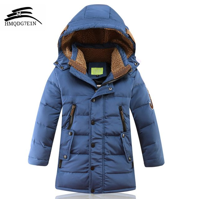 2018 Fashion Children'S Winter Thick Down Jacket Boys Down Jacket oieys dor Duck Down Jacket Wear Coat casual Hooded down jacket
