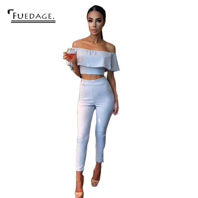 2017 Jumpsuit Sexy Club Party Bodycon Bodysuit Women Vintage Overalls Slash Neck Short Sleeve Off The Shoulder Autumn Playsuits