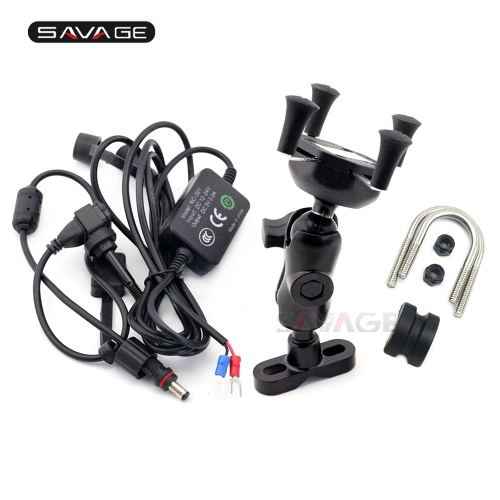 X-Grip Phone Holder USB Charger For SUZUKI GSX1400 GSX400F GSX650F GSX600F/GSX750F KATANA Motorcycle GPS Navigation Bracket
