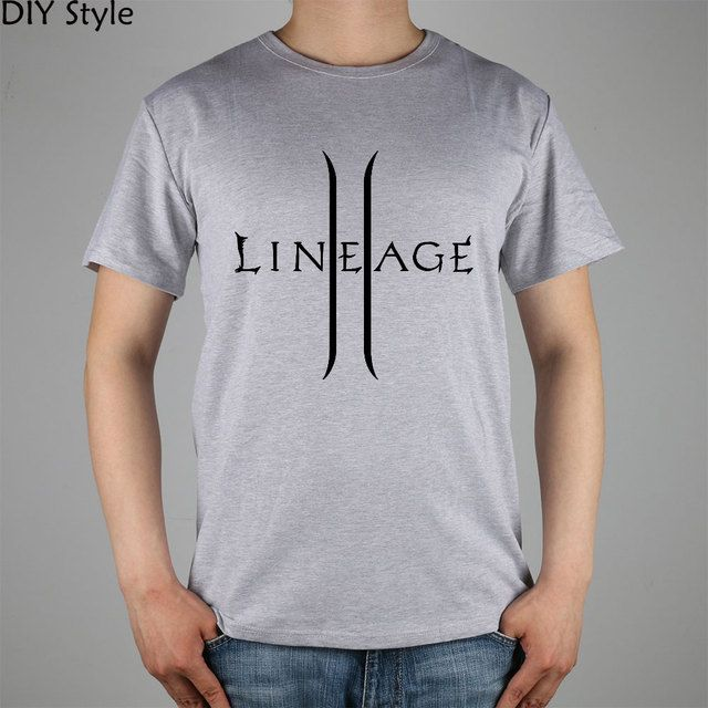Lineage 2 The Chaotic Throne T-shirt Top Lycra Cotton Men T shirt New Design