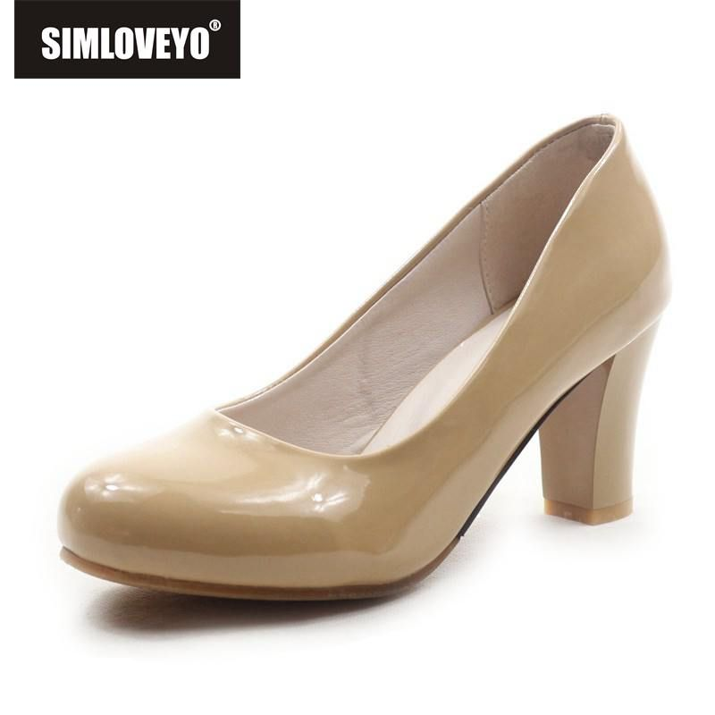 SIMLOVEYO New Women's High Heels Women Pumps Sexy Bride Party Spike Heel Pointed Toe High Heel Shoes Plue Size 31-43 QL1109