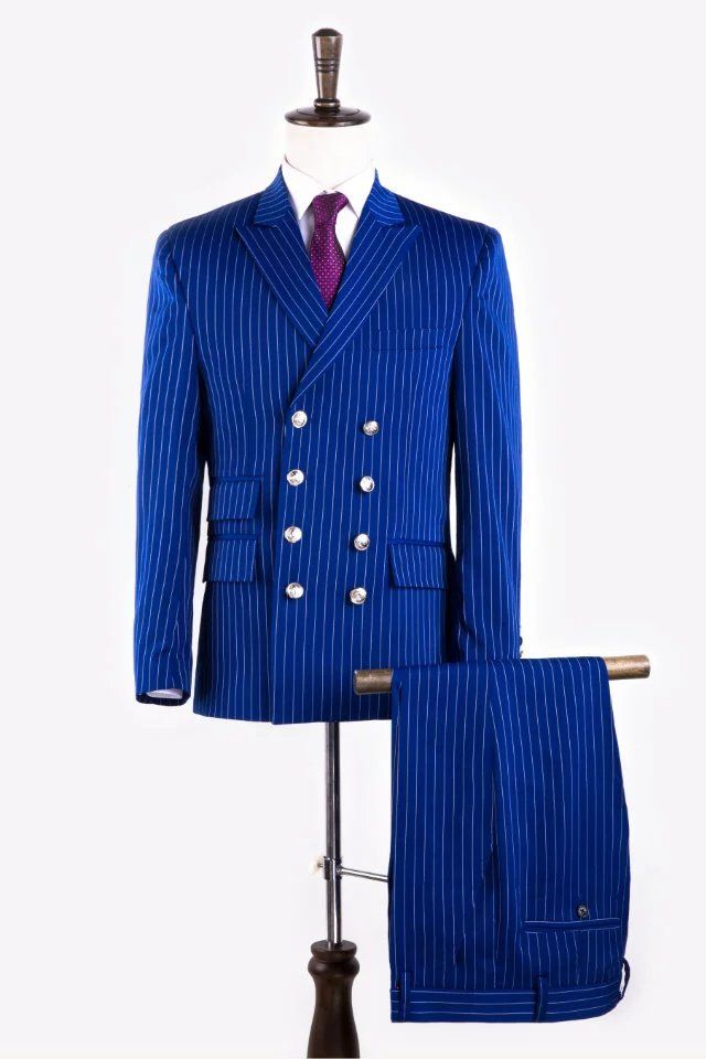 2017 Fashion Royal blue Mens Dinner Party Prom Suits Groom Tuxedos Groomsmen Wedding Blazer Suits (Jacket+Pants+Tie)