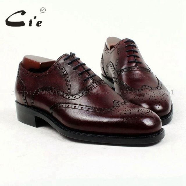 cie round toe full brogues full grain calf leather bespoke men shoe handmade pure genuine calf leather men's dress oxford OX418