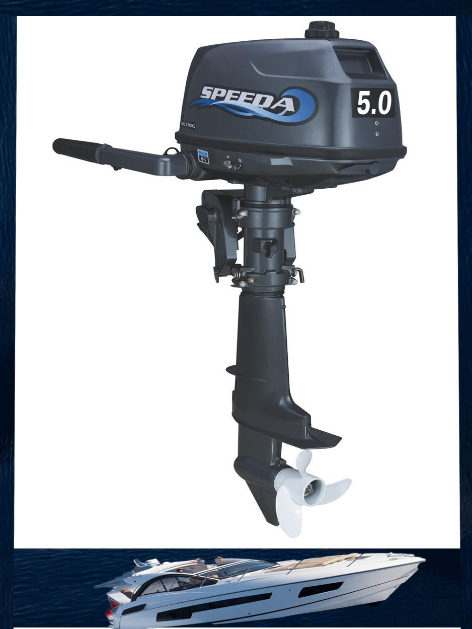 Factory Sale Speeda 5HP 2 stroke fishing boat outboard engine, outboard boat motor for sale, water cooled with discount( 5.0 2T)