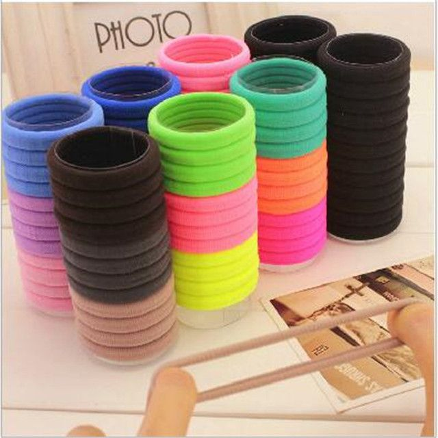 YWHUANSEN 24pcs/lot Women Elastic Hair Bands Colorful Soft Ponytail Holder For Adult/Children Hair Accessories Girls Hair Tie