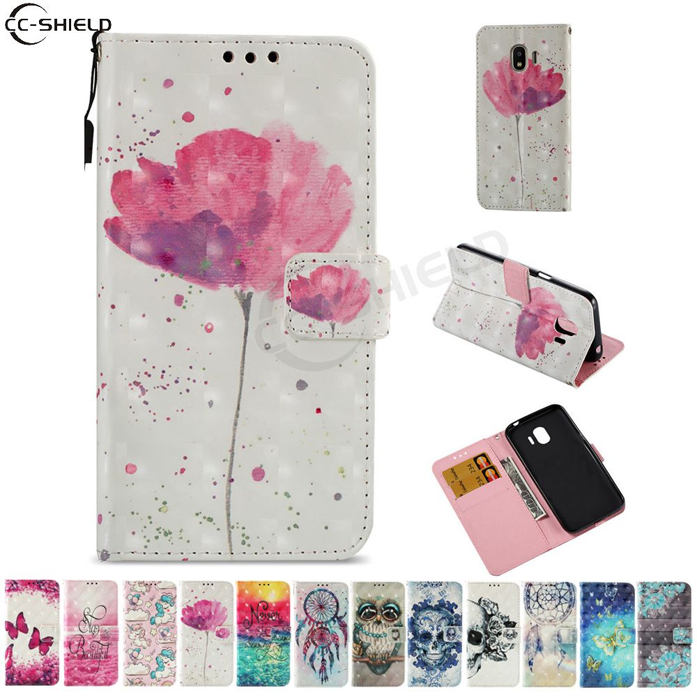 Case for Samsung Galaxy J2 Pro 2018 J250 J250F/DS Flip Case Phone Leather Cover for Samsung Galaxy J2 2018 SM-J250F/DS J250N Bag