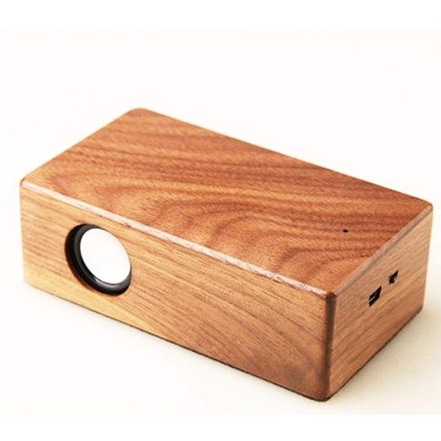 Noise Reduction Wooden HIFI Portable USB Computer Speaker Amplifier Stereo Wood Music Sound Box