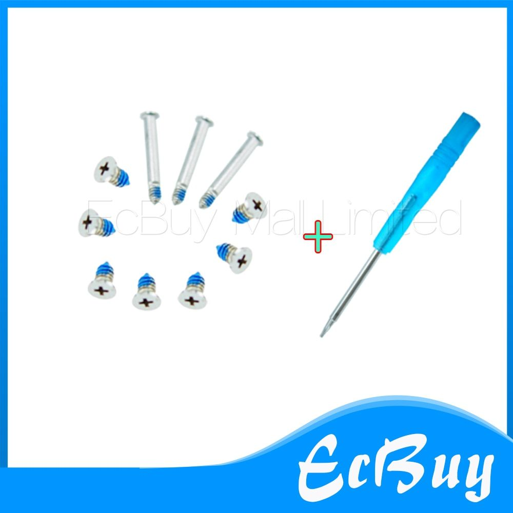 New For MacBook Pro A1278 A1286 A1297 Bottom Back Case Cover Screws (10pcs) & Screwdriver