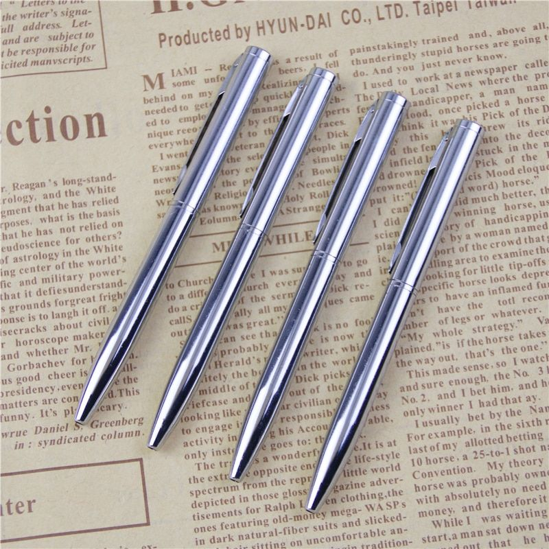 Metal Ballpoint Pen Rotating Pocket-size Pen Portable Ball Point Pen Small Oil Pen Exquisite Brief 1pc