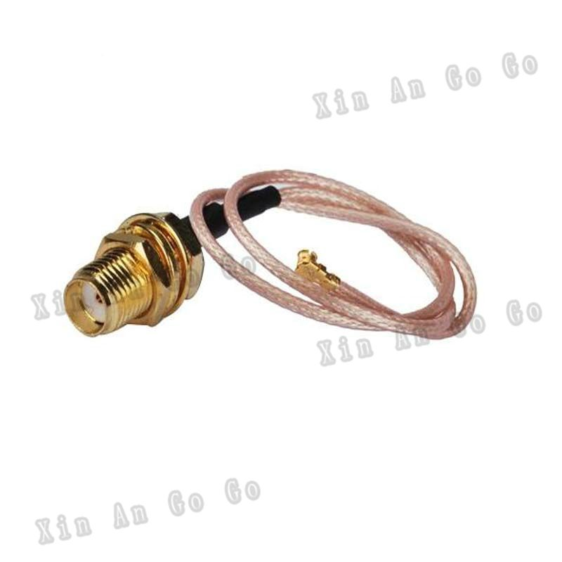 10PCS IPX / u.fl to SMA female(Jack) connector  Pigtail,50 Ohm,Cable RG178  Free shipping