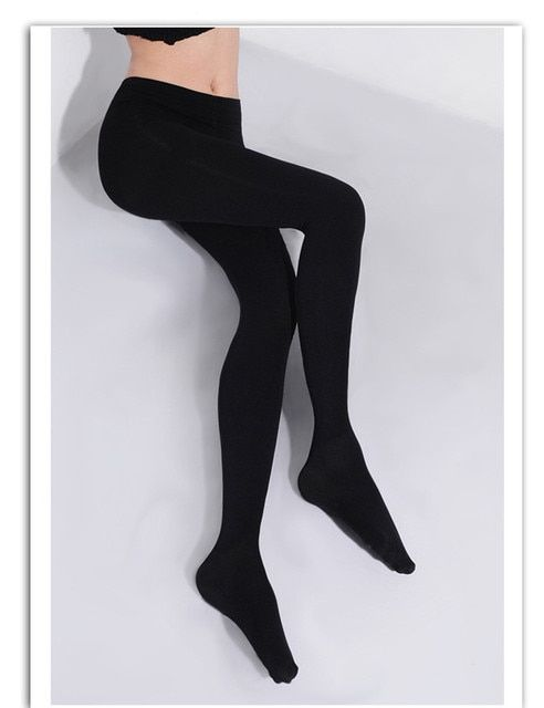 2016 2Pcs Women 150D  Microfiber Thermo Fleece Lined Tights Thermo Pantyhose in Solid Black Color Super Soft and Warm for Winter