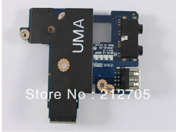 FREE SHIPPING ORIGINAL for  Dell Latitude E6400 Audio USB LAN Ethernet Board D810N LS-3809P