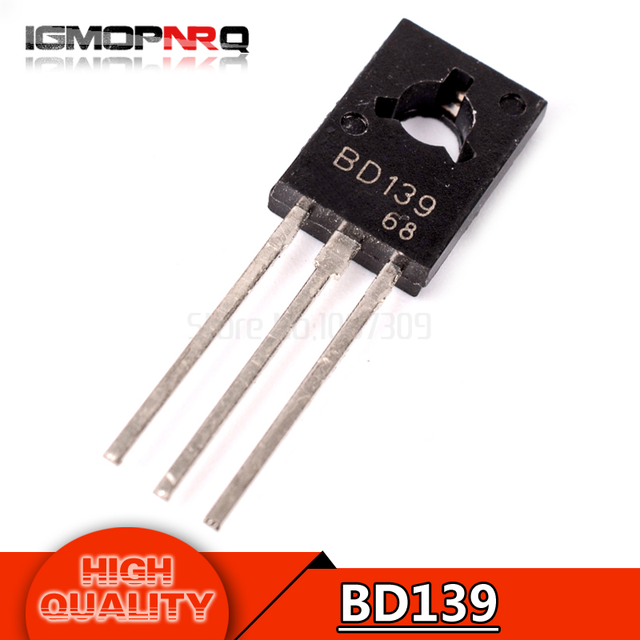 20pcs free shipping BD139 D139 TO-126 NPN 1.5A 80V  NPN Epitaxial  Triode Transistor new original