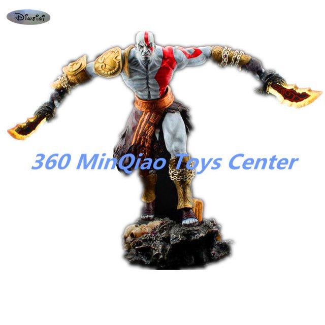 [Resin Made] 1/4 Scale God Of War 3 Kratos Resin FIGURE Statue Fans Action Figure Collectible Model Toy 35cm RETAIL BOX WU785