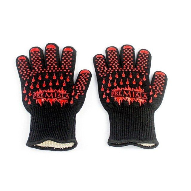 Multi-Purpose 4 in 1 BBQ Grill Glove, Slip-Resistant, Fireproof, Heat Resistant Glove,fire gloves,cooking gloves
