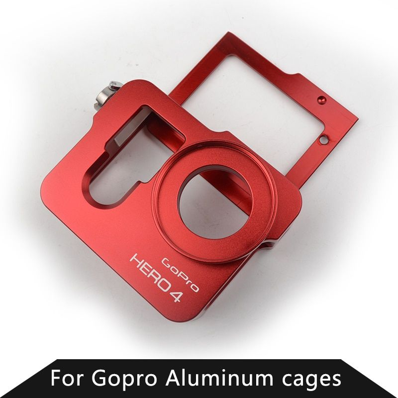 Gopro Accessories Dog Cage Frame Mount Aluminium Shockproof Housing Case For Go pro Hero 3 3+ 4 Silver Black Camera