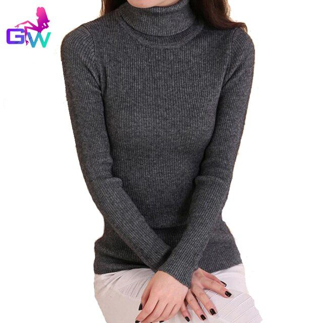 Women Cashmere Sweater 2015 Winter Turtleneck Long Sleeve Pullover Thick Warm Knitting Sweaters 20 Colors Women Cashmere Sweater