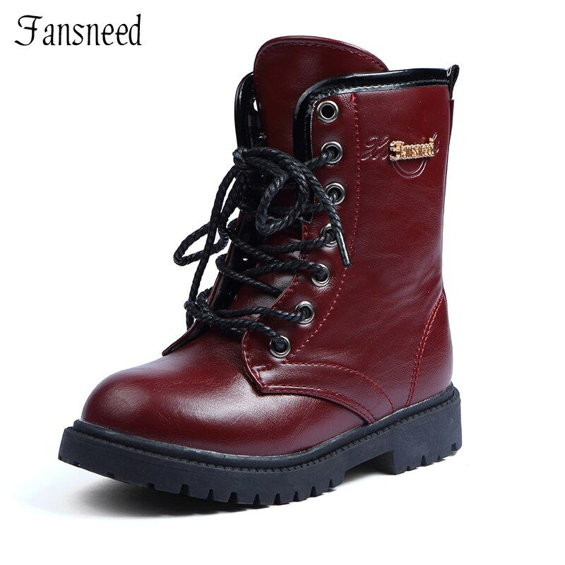 2019 new Autumn Children shoes  boys and girls leather shoes wear non-slip shoes children boots boys and girls boots