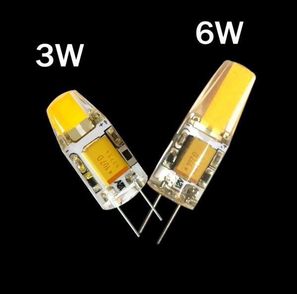 G4 COB 12V COB LED Bulbs 3W 6W AC12V LED G4 COB lamp Replace for Crystal LED Light Bulb Spotlight Warm Cold White