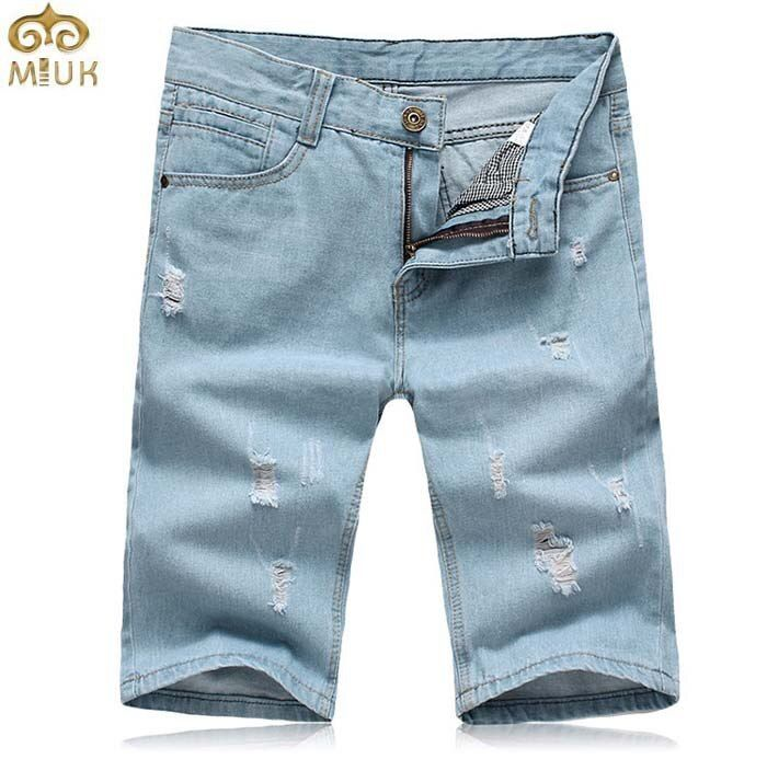 Super Large Size Men's Denim Shorts Brand 2017 Casual Man Shorts Summer Style Short Trousers Blue bermuda masculina 40 42 44