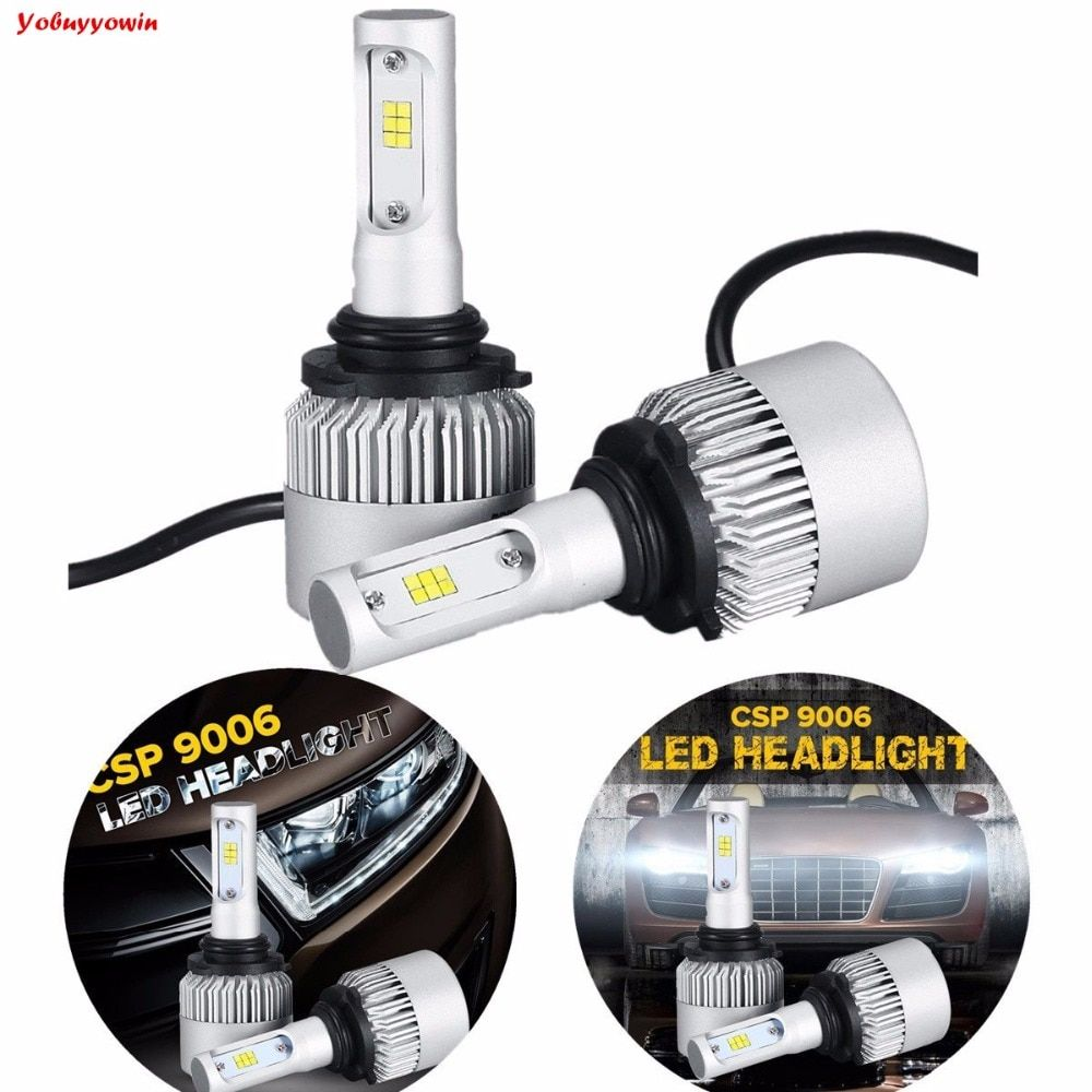 S3 LED Headlight Bulbs 9006/HB4/HB4U,9005 HB3 Car Light/DRL/Driving Running Bulbs 72W 8000LM For PHILIPSCSP Chips Single Beam