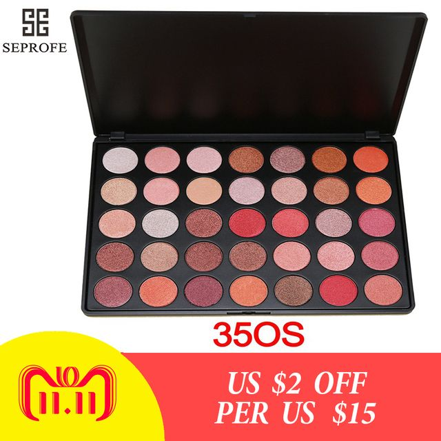 Professional 35 Colors Eyeshadow Pallete Glitter Silky Matte Powder Make up Palette Cosmetics Smoky/Warm Shimmer Eye shadow 35OS