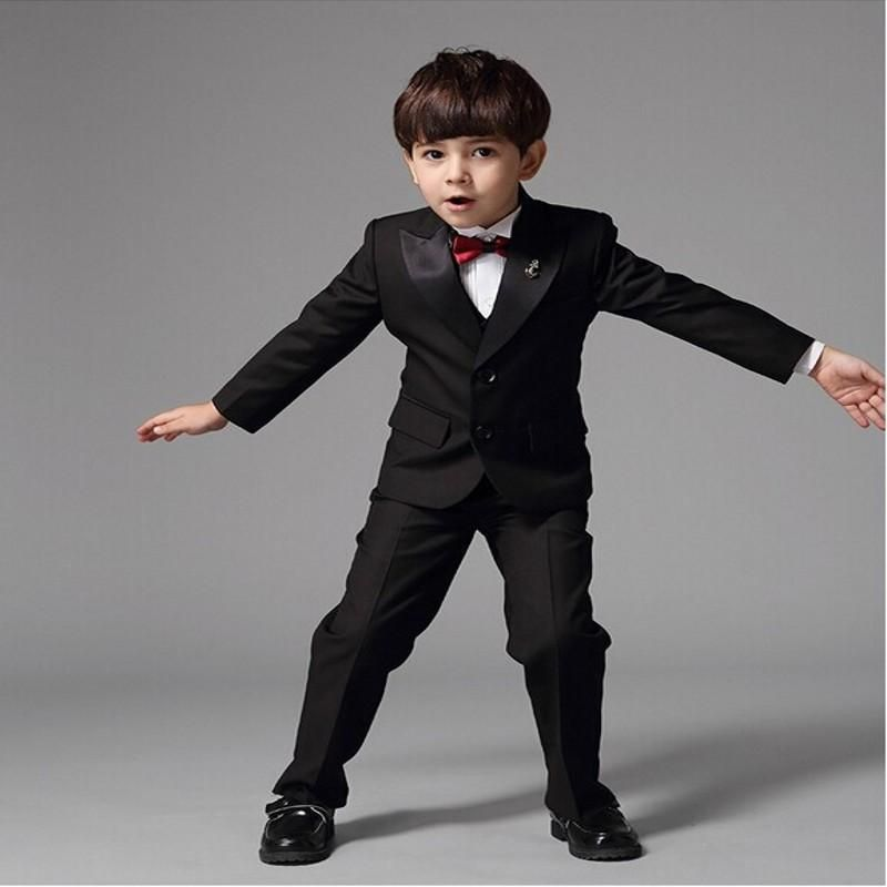 2017 SexeMara Custom Made New Arrival Two Pieces Boy Suits Peaked Lapel Tuxedo Wedding Suit(Jacket+Pants)