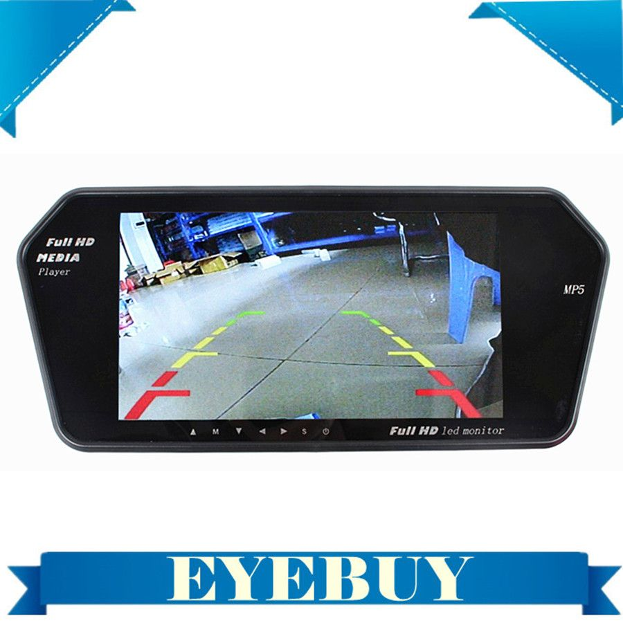 7inch Car Vehicle LCD screen Rear View Mirror parking video monitor For car dvd Reverse Camera MP5 USB SD bluetooth Auto Monitor