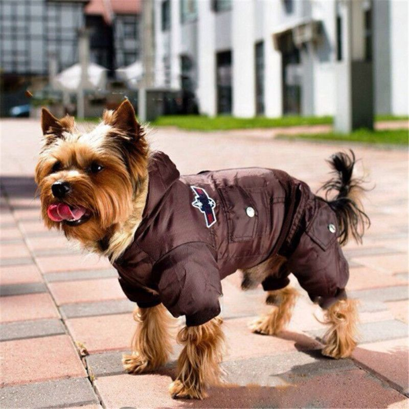Dog Pet Warm Winter Coat Jacket USA AIR FORCE Waterproof Puppy Hoody Clothes Dogs Kitten Puppy Thick Animal Hoodies Coats 4XL