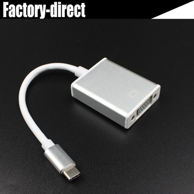 USB 3.1 USB type C USB-C to VGA converter adapter cable for Apple New Macbook/ Chromebook Pixel/Dell XPS 13/Lumia 950