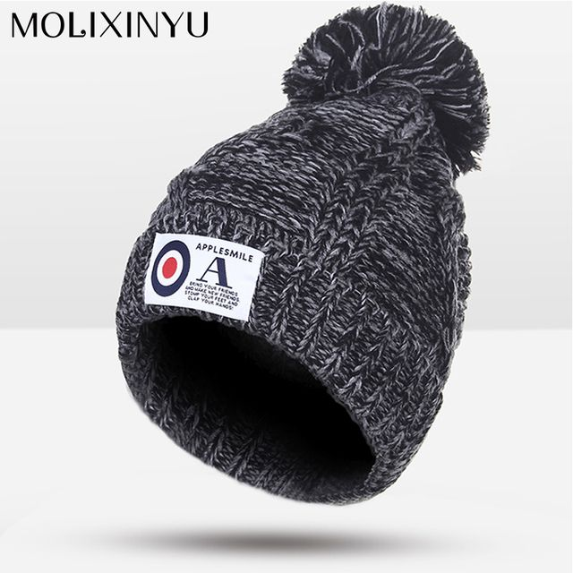 2017 New Winter Knitted Hats Children girl Hats For Children Cap Kids&Adult Skullies Beanies Winter Warm Hat Girl High Quality