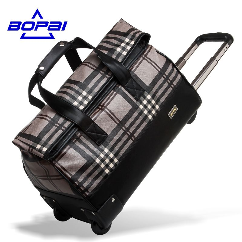 BOPAI Casual Fashion Men's Travel Bags Carry on Luggage Bags Men Duffel Bags Women Rolling baggage Big Trolley Luggage Bags